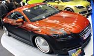 Street Racing Car Modified: Custom Audi TT Racing in Orange And Matte Black With Grey Metallic Flame Airbrush - Airbrush Artwoks