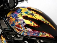 Modification sporty Airbrush Harley-Davidson Night Riders  - Airbrush Artwoks