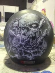 Airbrush Asylum: Harley helmet completed @ Advanced Airbrush, Sydney. - Kustom Airbrush