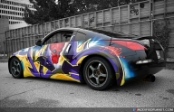 Street Custom Air Brushed Nissan 350Z - Tuning Cars Airbrush