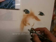 Airbrush freehand portrait - step by step - Airbrush Videos