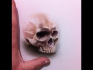 Airbrush Freehand - Life like skull - Part 1 - Creative Learning