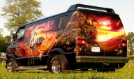 Airbrush Kustom on Van - Kustom Airbrush