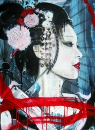 Geisha: Artist of the Floating World. iPaint Airbrush Studio-Home-Pittsburgh,PA - My Paintings