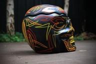 Pinstriping Skull - Cheekyairbrushing com au