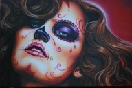 Perfect Image > Skull Girl Red - Airbrush Art