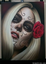 """La Muerte"" Airbrush Art on Canvas - Favorite Art"