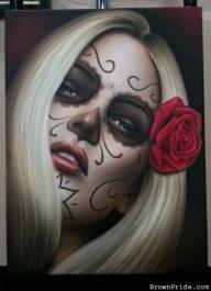 """La Muerte"" Airbrush Art on Canvas - Favorite Art"