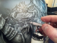 Scorpion Hayabusa Tank - Airbrush Step by Step
