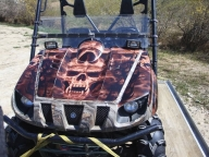 Custom Graphics on ATVs, Snowmobiles, Quads, Golf Carts  - Kustom Airbrush