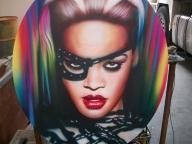 Singers - Rihanna by Tony Rea - Fotorealismo