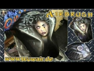 Airbrush by Wow, Bike Tank Fantasy Girl - Airbrush Step by Step