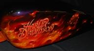 Harley Tin Set with True Fire, Three Piece - Airbrush Artwoks