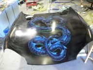 Viper on Hood - Airbrush Artwoks
