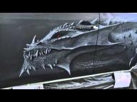 Cтудия CRAZY BRUSH. Аэрография. Dragon - Airbrush Videos