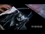 Amazing Airbrush - Jack Sparrow - Pirates of the Caribbean On Stranger Tide - Speed Paint (HD) - Airbrush Videos