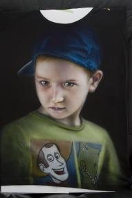 Portrait on T-shirt - Airbrush Artwoks