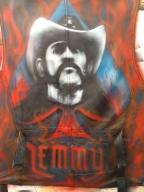 Motörhead , Lemmy on leather waist coat  - Giorgio uccelini