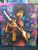 Jimmy Hendrix . Canvas , large piece  - Giorgio uccelini