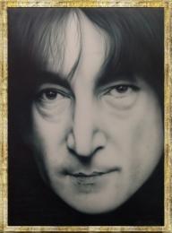 John Lennon . Canvas  - Giorgio uccelini