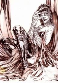 FAN ART - Ink and airbrush on paper - My Art - La TUA Arte nella Rete - References
