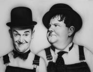 Laurel and Hardy Acrylic on art paper. - Giorgio uccelini