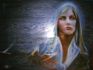 Tempo - Original Art by ArteKaos - Airbrush on wood - ArteKaos Art