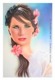 airbrush portrait on schoeller. cm.40x60 - Airbrush Artwoks