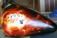 Real Fire True Fire Flames - hotairbrush.com - Airbrush Artwoks