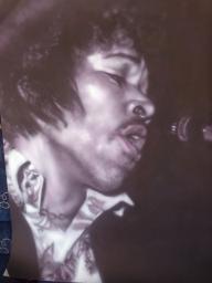 airbrush - Jimi Hendrix Purple haze by Julia Tapp - Airbrush Artwoks