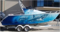 The EC P*A*T (Pro Airbrush Team) can professionally airbrush your watercraft - Airbrush Artwoks