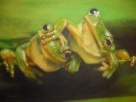 airbrush - Frogs by Julia Tapp - Airbrush Artwoks