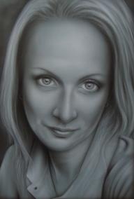 Airbrush portrait BB by kshandor - Fotorealismo