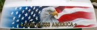 eagle and flag on trike - Kustom Airbrush