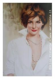 Audrey Tautou, airbrush portrait - Airbrush Artwoks