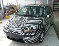 airbrush, painting, car, fiat punto, zebra - Airbrush Artwoks