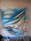 Boat on wall - by ArteKaos Airbrush - ArteKaos Airbrush