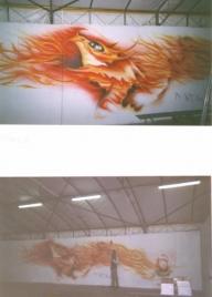 Airbrush on wall, by ArteKaos Airbrush - ArteKaos Airbrush
