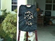 airbrush 3d skull - trife gang clothing