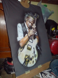 Keith Richard's by Ainxairbrush - Airbrush Artwoks