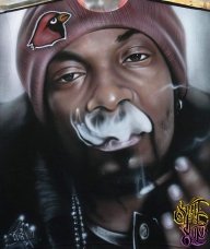 Snoop Dogg Airbrushed T-shirt by PrimoOne - Fotorealismo