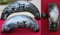 Fender for previously finished tank and front fender - Kustom Airbrush