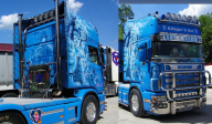 Airbrushed Scania 164L - Airbrush Art