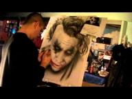 Video speed tutorial, airbrushing Joker from dark knight - YouTube - Airbrush Videos