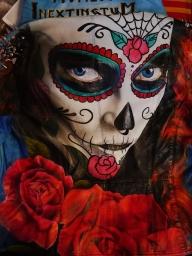 """Sugar skull"" on leather jacket - Photorealism"