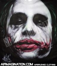 Airbrush Joker Scars Shirt | Dark Knight Airbrushed T-Shirt - Airbrush Artwoks