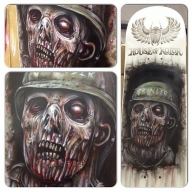 Zombie Skateboard, airbrushed today @ MotorEx on the House of Kolor and Anest Iwata stands.  - Airbrush Artwoks
