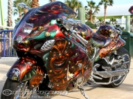 2012 Rat's Hole 40th Custom Bike Show Daytona - Motorcycle USA - Kustom Airbrush