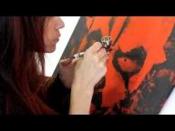 Darth Maul Airbrush video step - Airbrush Videos
