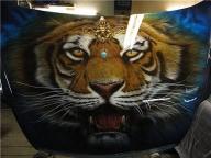 Airbrush-Tiger-Car-Hood  - Fotorealismo
